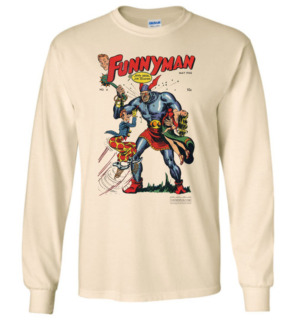 Funnyman No.4 Long Sleeve (Unisex, Light Colors)