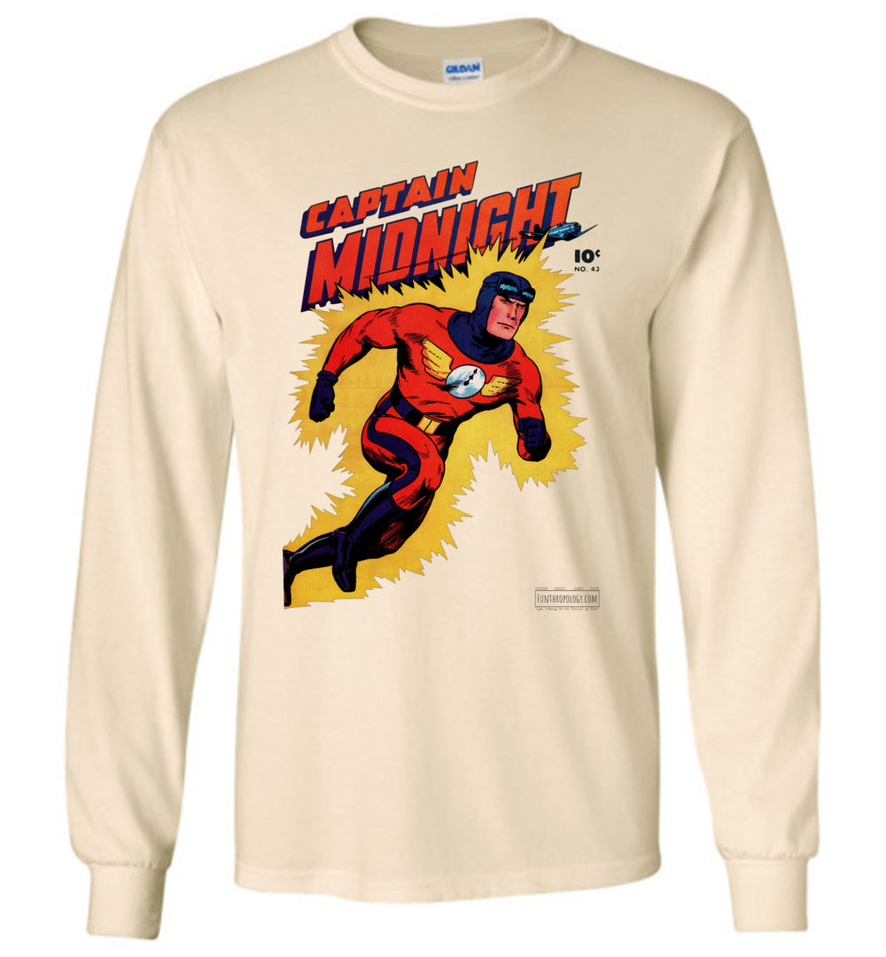 Captain Midnight No.43 Long Sleeve (Unisex, Light Colors)