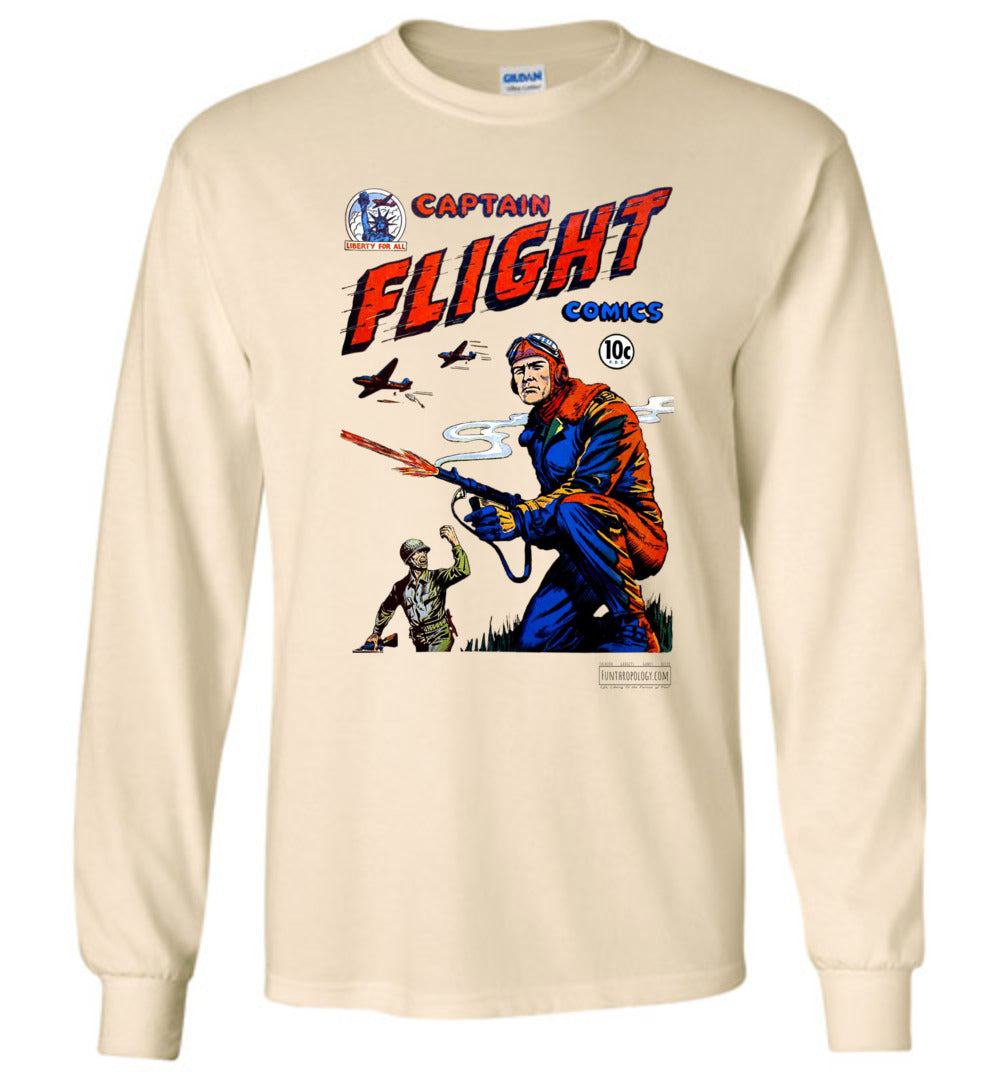 Captain Flight No.3 Long Sleeve (Unisex, Light Colors)