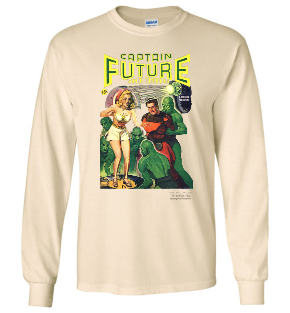 Captain Future No.12 Long Sleeve (Unisex, Light Colors)
