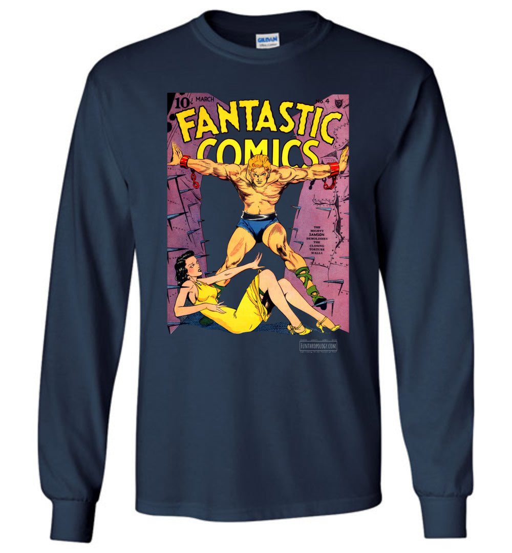 Fantastic Comics No.4 Long Sleeve (Unisex, Dark Colors)