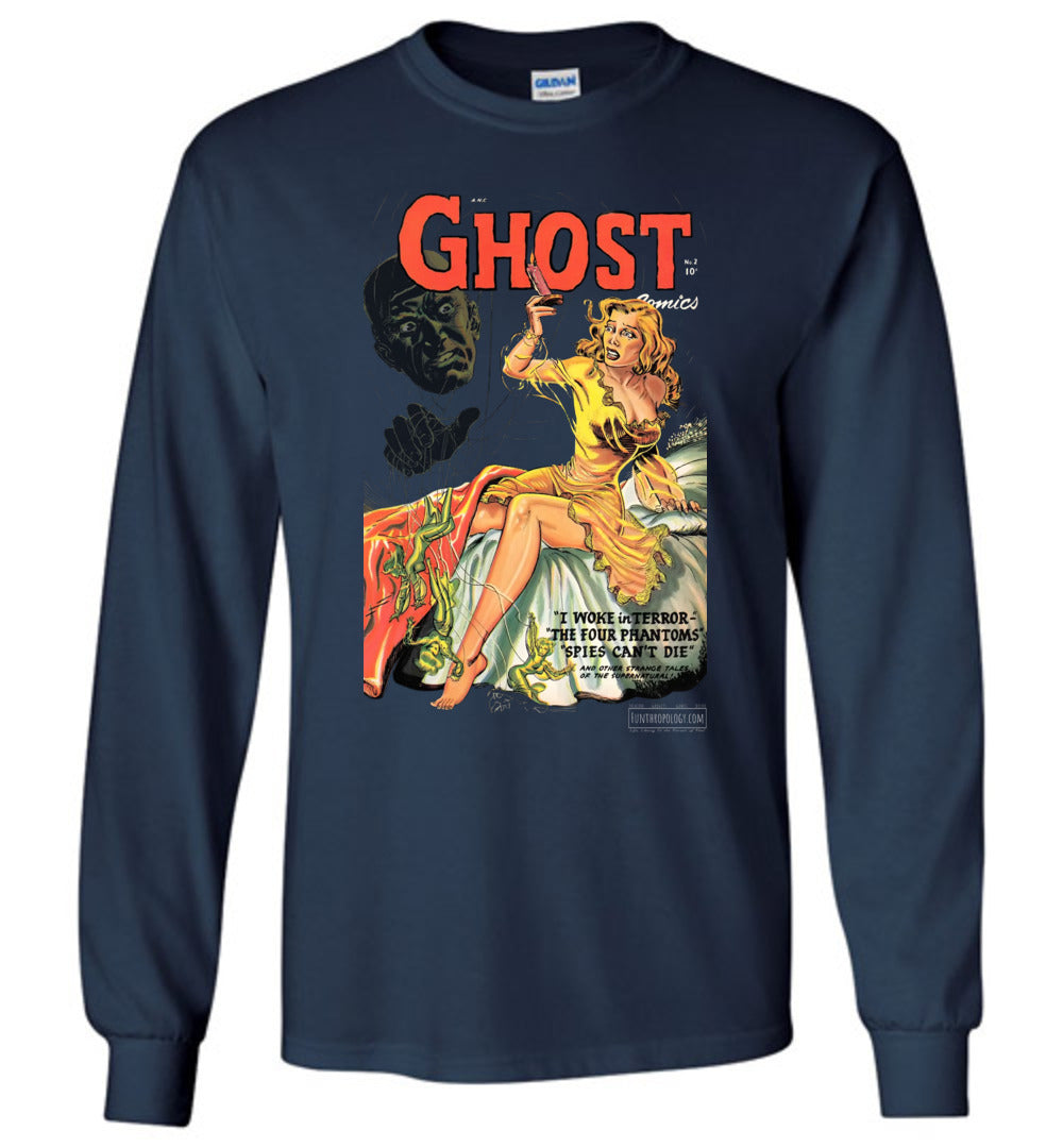 Ghost Comics No.2 Long Sleeve (Unisex, Dark Colors)