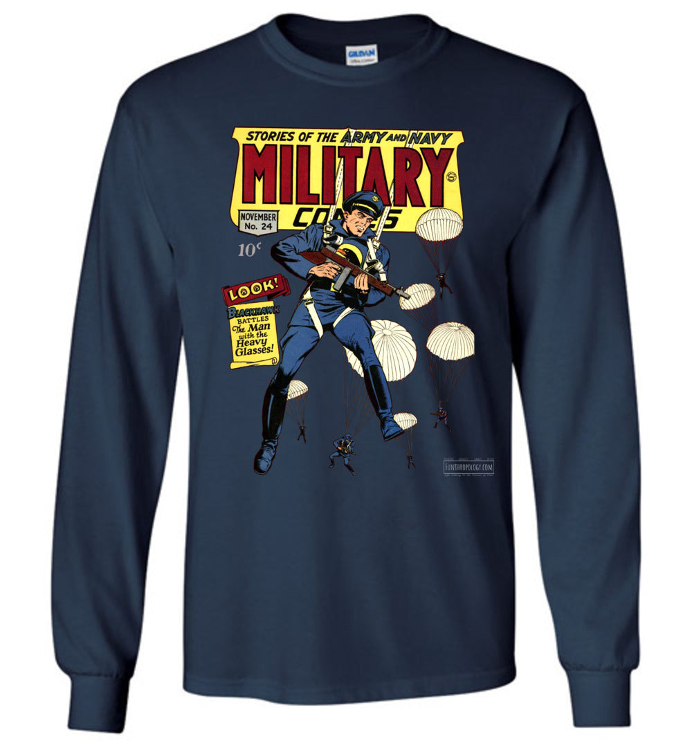 Military Comics No.24 Long Sleeve (Unisex, Dark Colors)