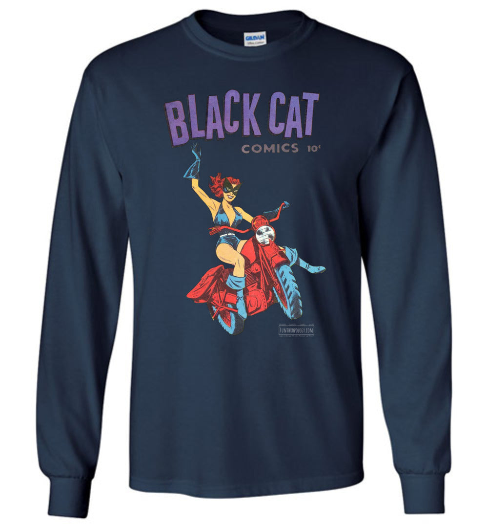 Black Cat No.1 Long Sleeve (Youth, Dark Colors)