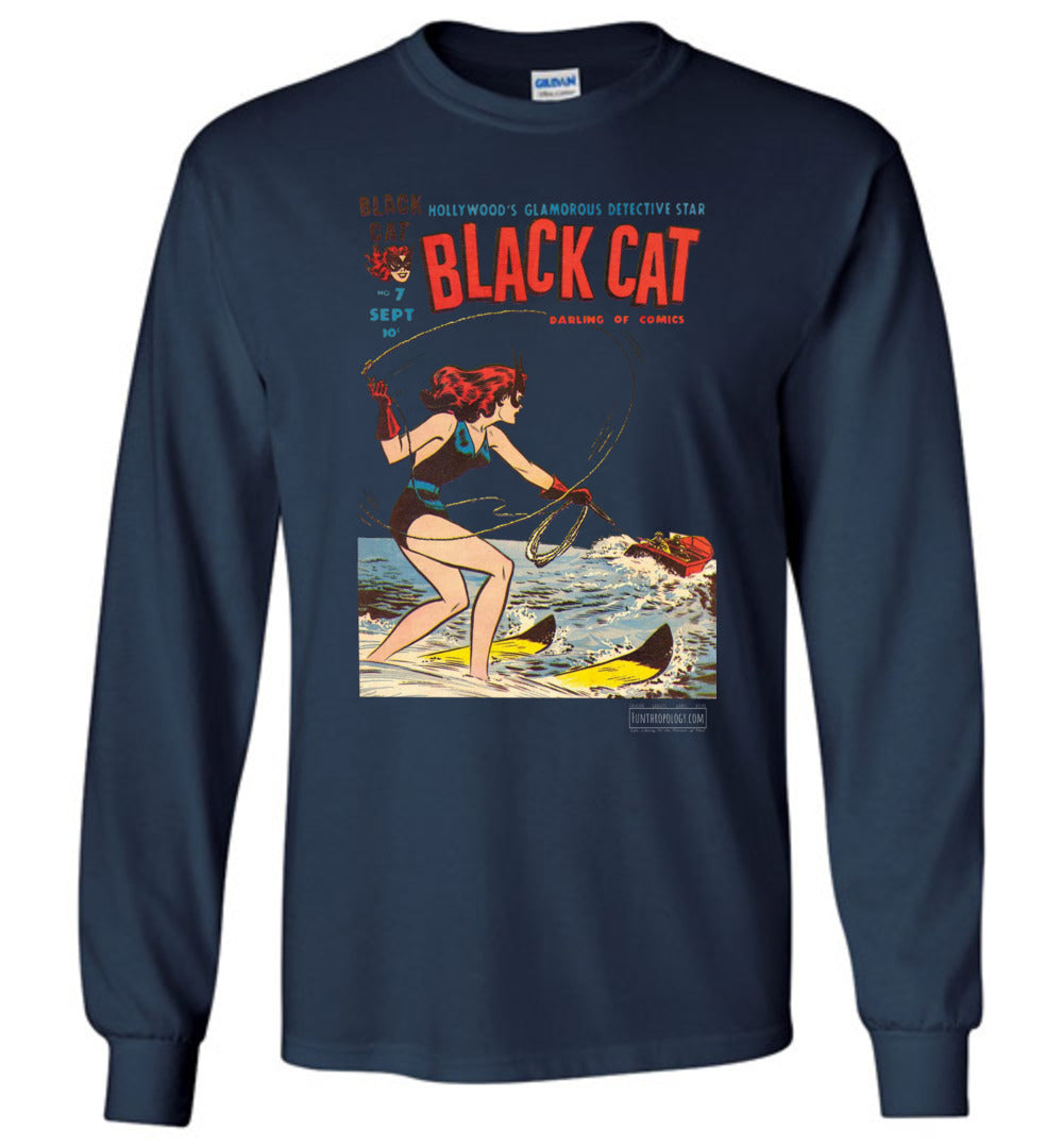 Black Cat No.7 Long Sleeve (Unisex, Dark Colors)