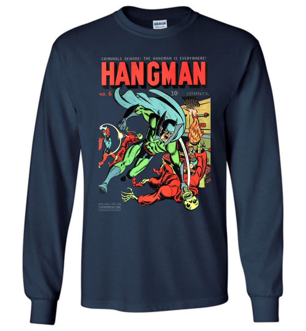 Hangman No.6 Long Sleeve (Unisex, Dark Colors)