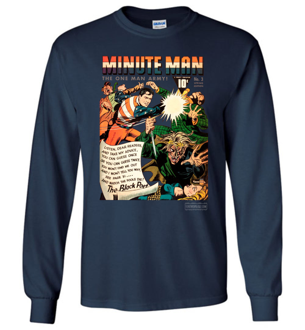 Minute Man No.3 Long Sleeve (Unisex, Dark Colors)