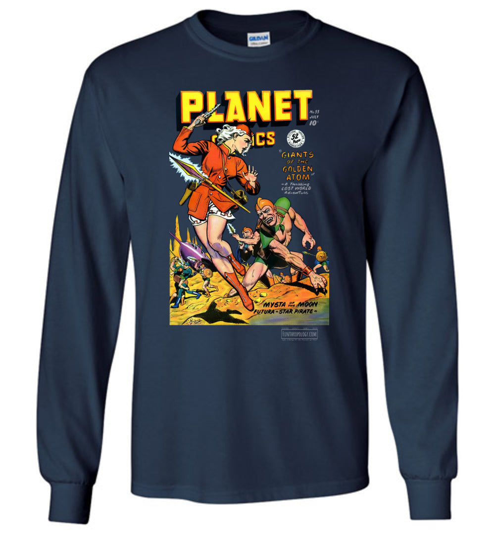 Planet Comics No.55 Long Sleeve (Unisex, Dark Colors)