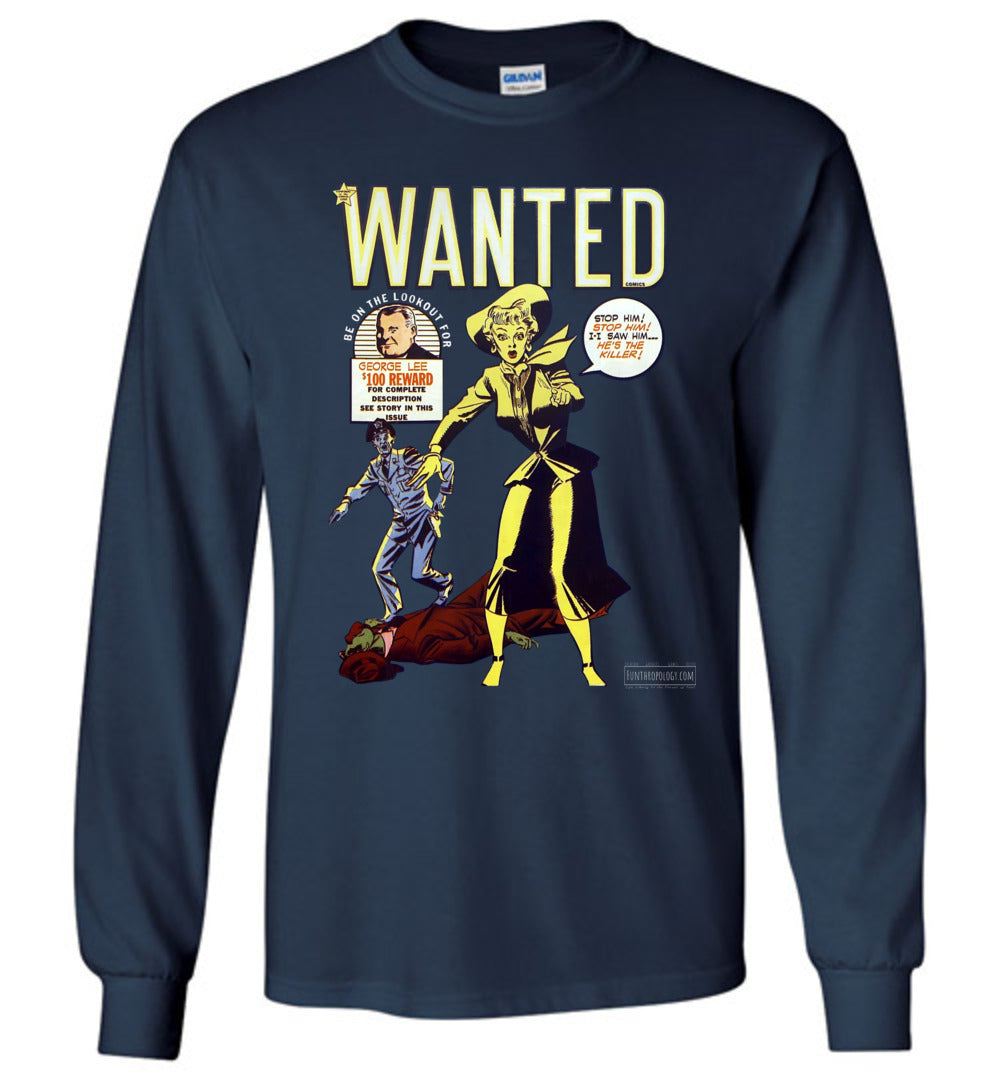 Wanted Comics No.30 Long Sleeve (Unisex, Dark Colors)