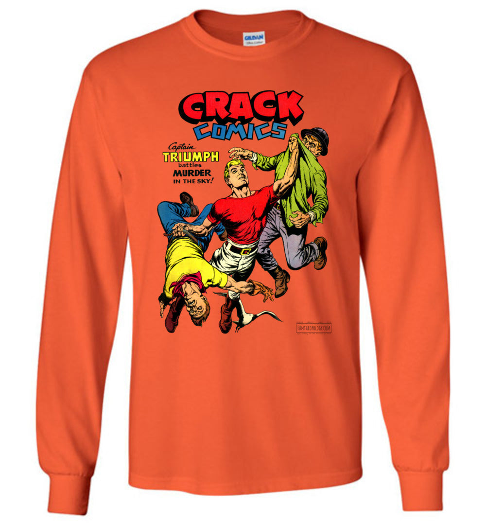 Crack Comics No.48 Long Sleeve (Unisex, Light Colors)