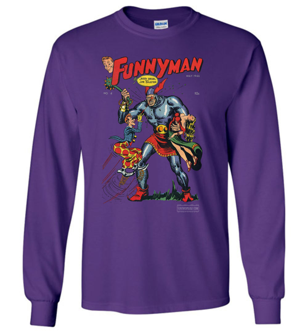 Funnyman No.4 Long Sleeve (Unisex, Dark Colors)