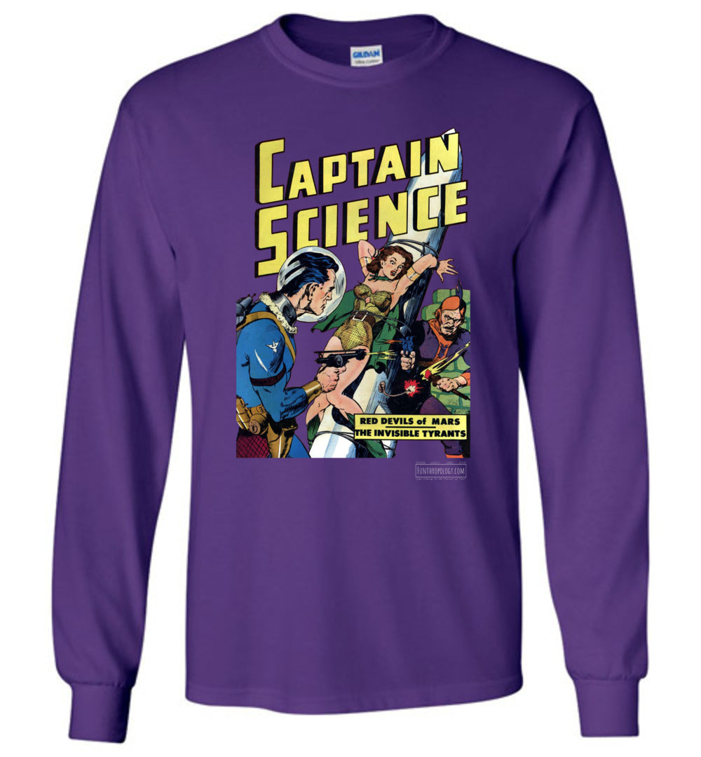 Captain Science No.6 Long Sleeve (Unisex, Dark Colors)