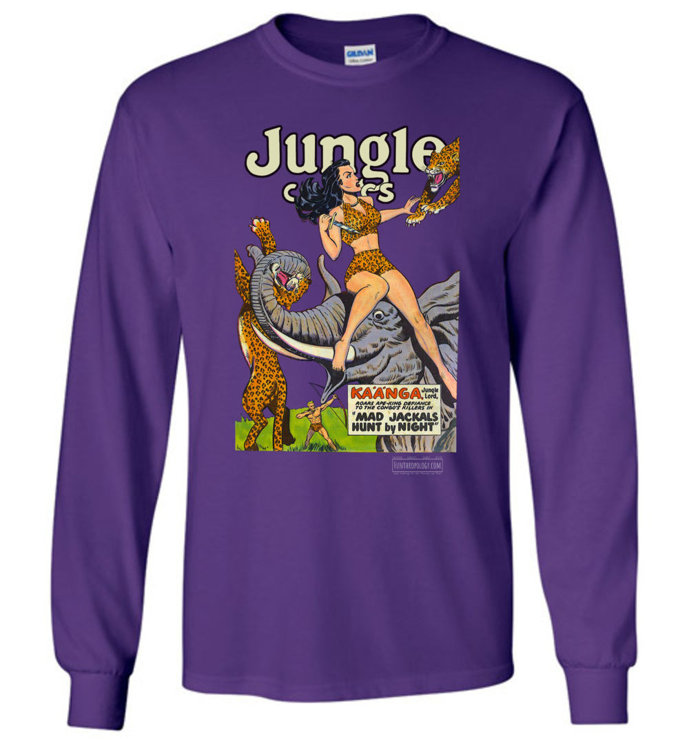 Jungle Comics No.114 Long Sleeve (Unisex, Dark Colors)