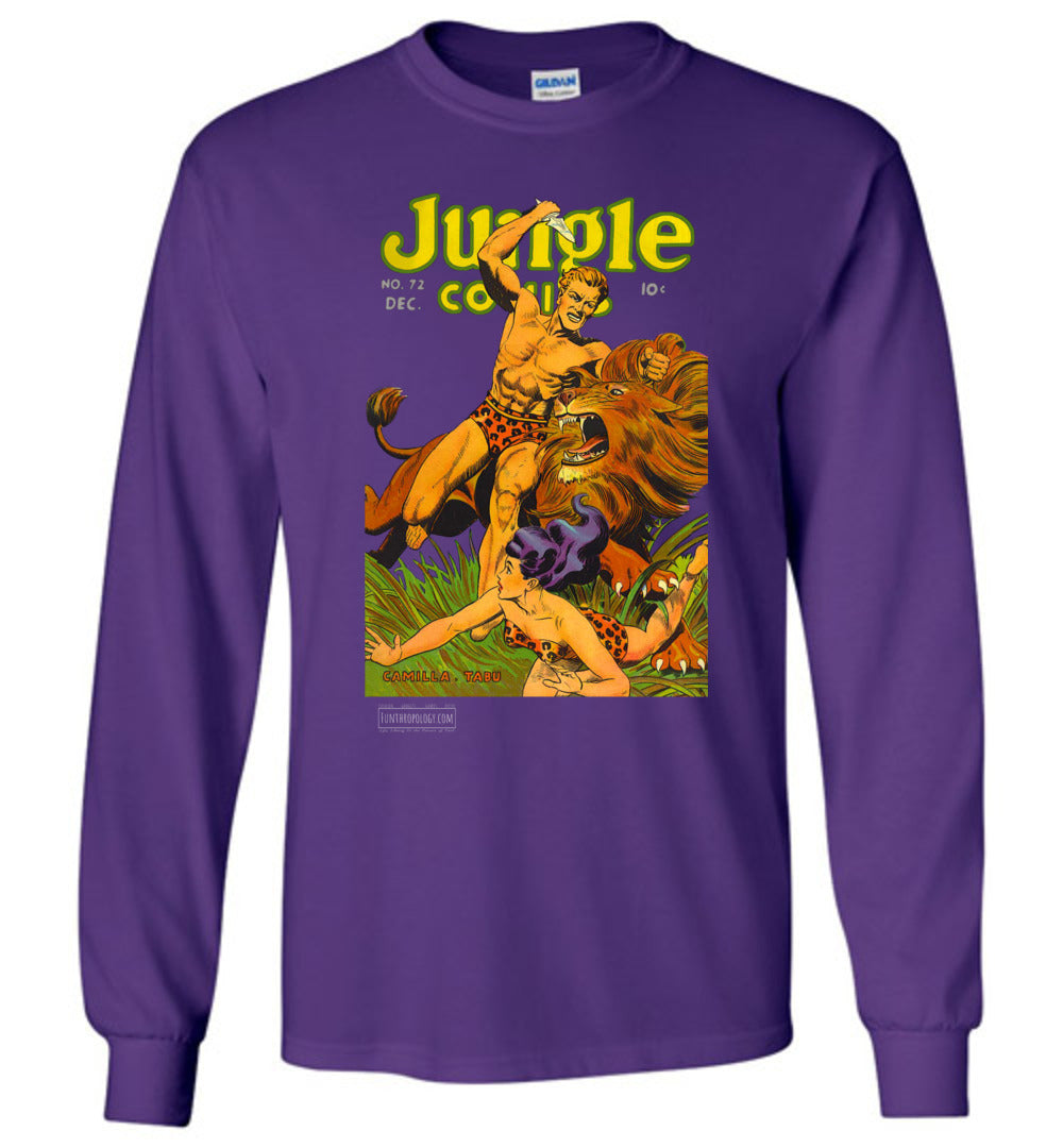Jungle Comics No.72 Long Sleeve (Unisex, Dark Colors)