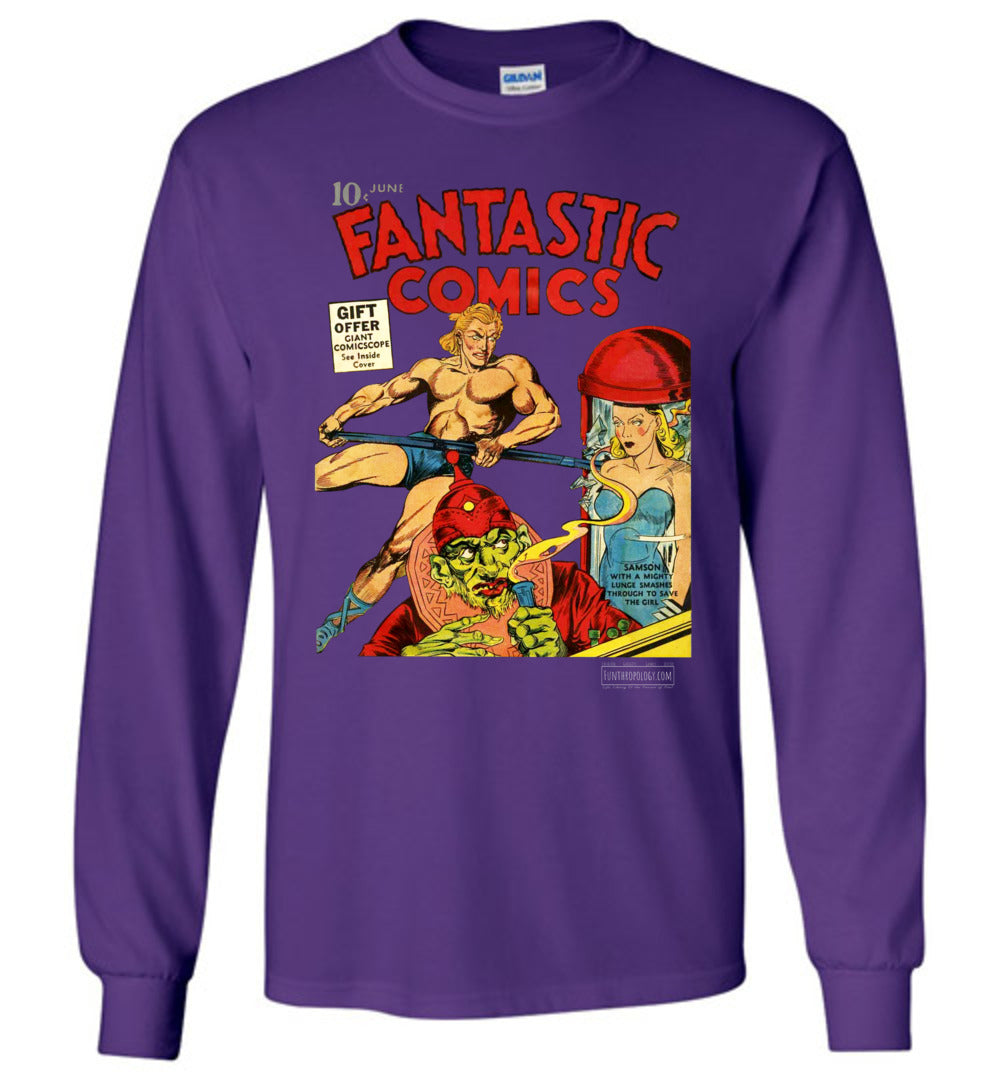 Fantastic Comics No.7 Long Sleeve (Unisex, Dark Colors)