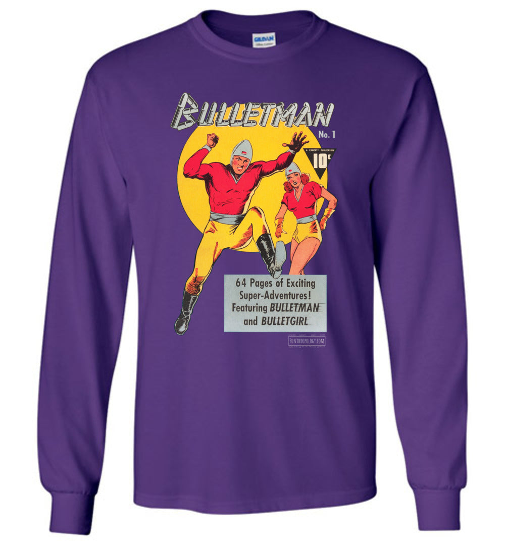 Bulletman No.1 Long Sleeve (Unisex, Dark Colors)