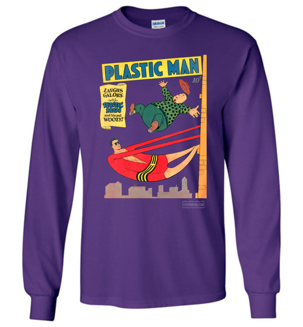 Plastic Man No.4 Long Sleeve (Unisex, Dark Colors)