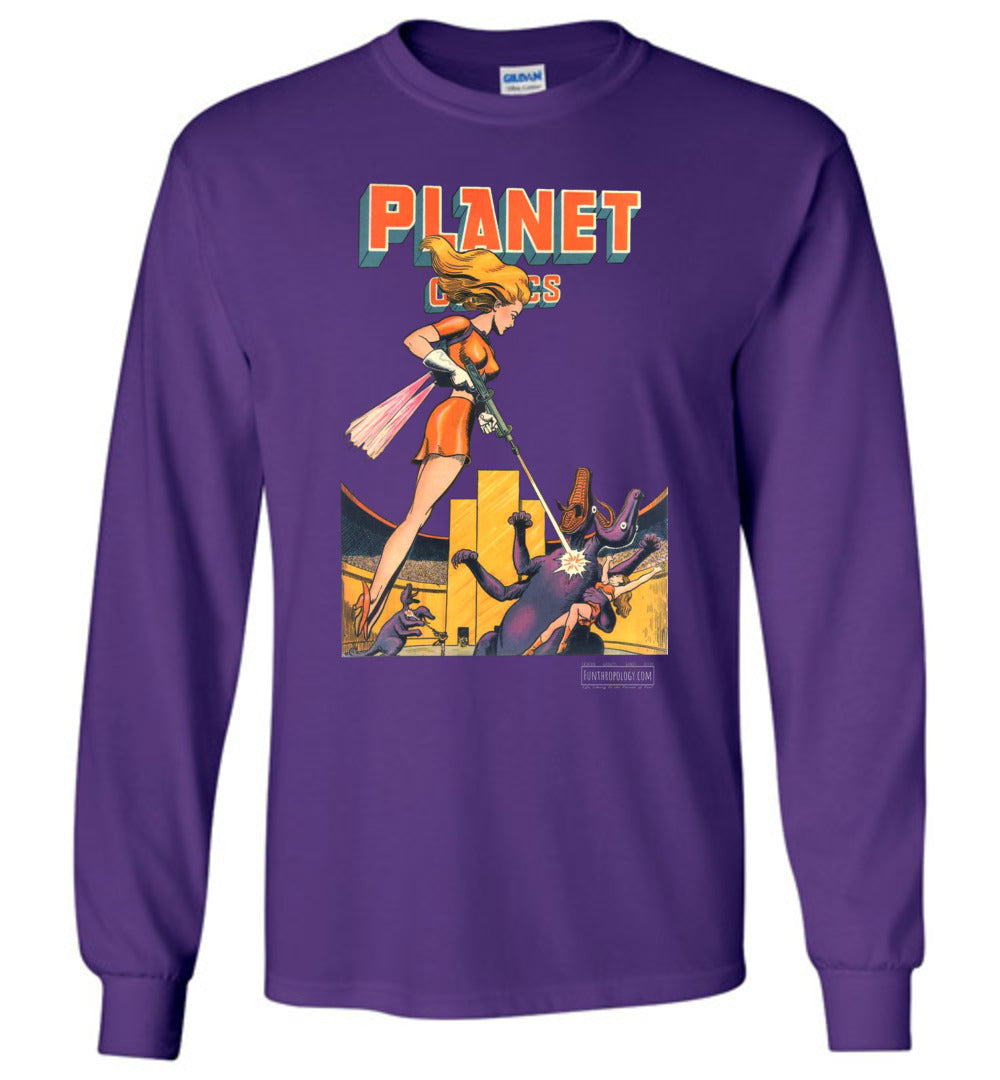 Planet Comics No.38 Long Sleeve (Unisex, Dark Colors)