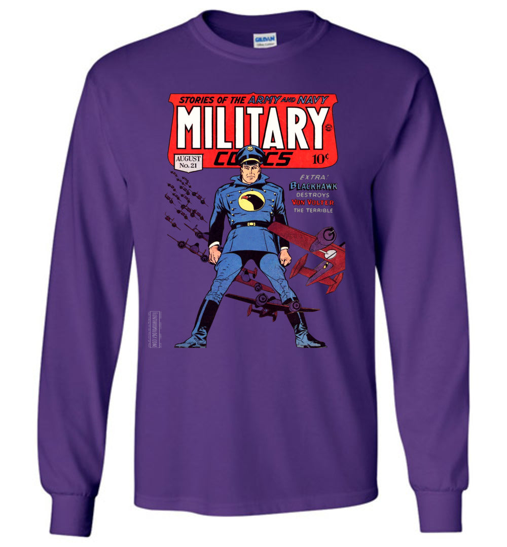 Military Comics No.21 Long Sleeve (Unisex, Dark Colors)