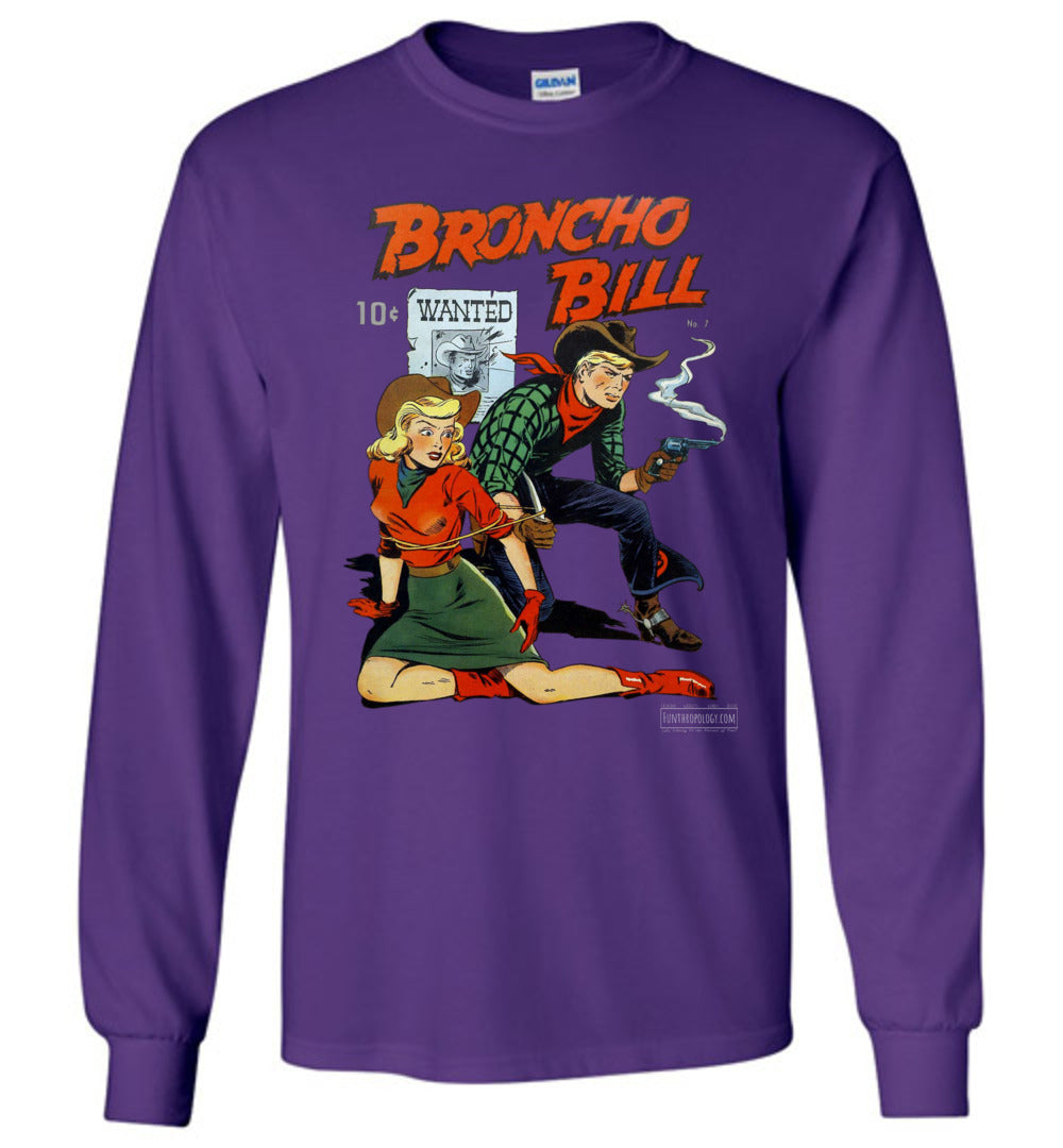 Broncho Bill No.7 Long Sleeve (Unisex, Dark Colors)