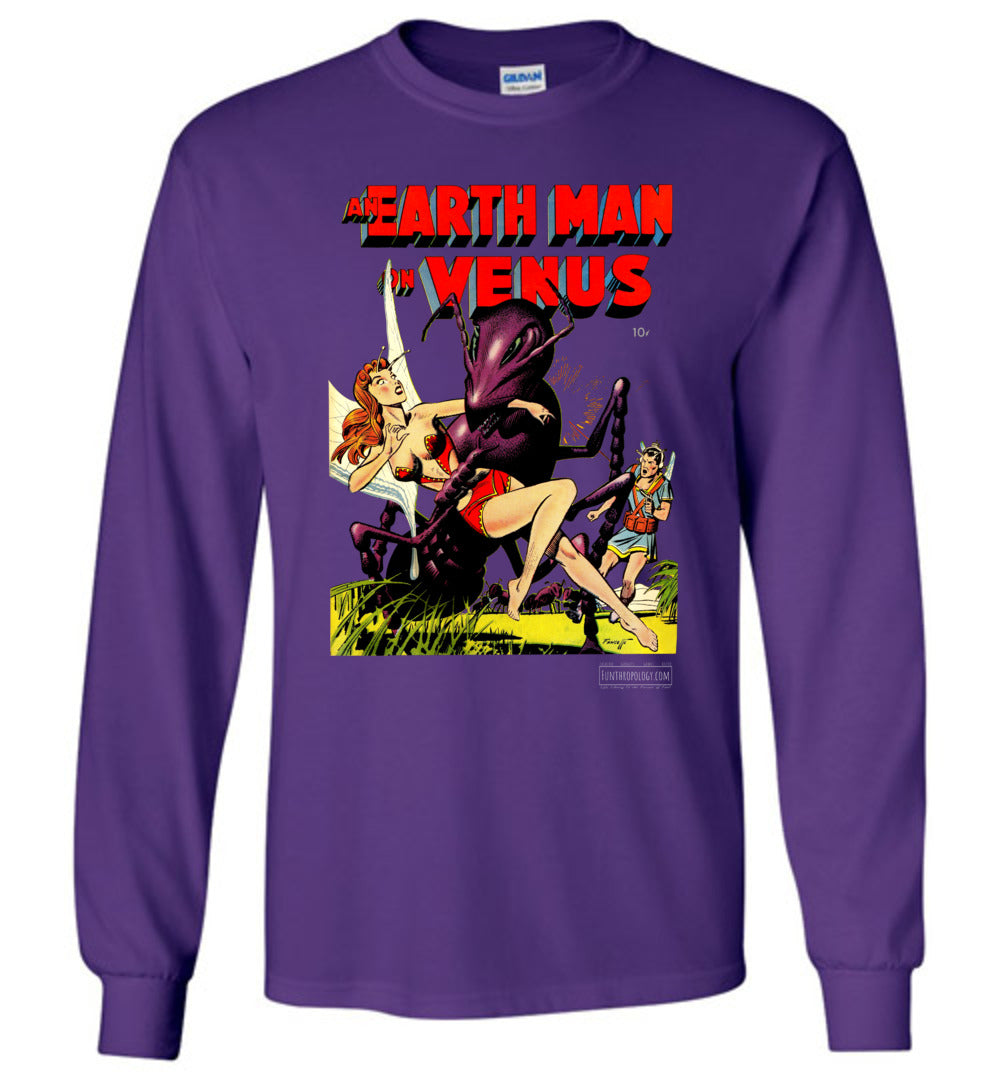 An Earth Man On Venus No.1 Long Sleeve (Unisex, Dark Colors)