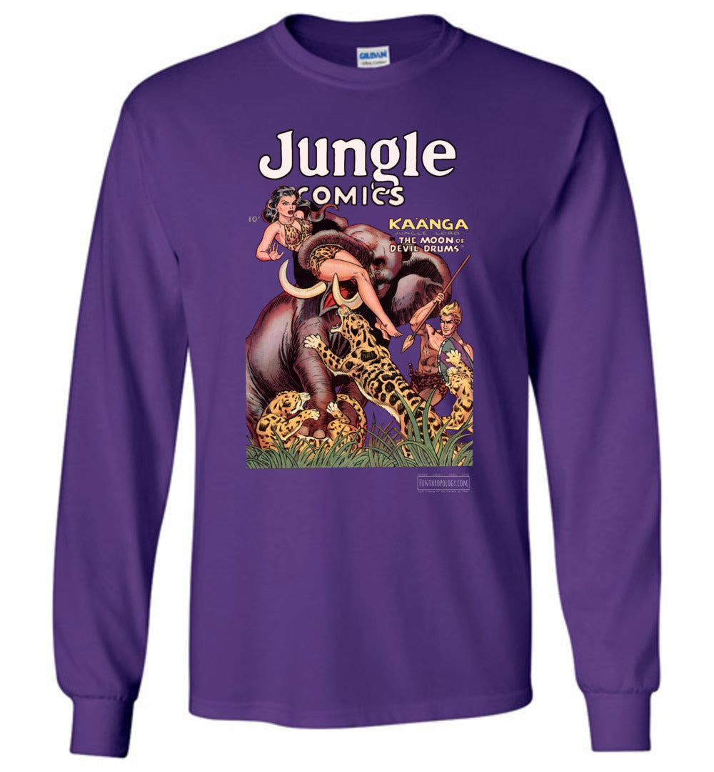 Jungle Comics No.143 Long Sleeve (Unisex, Dark Colors)