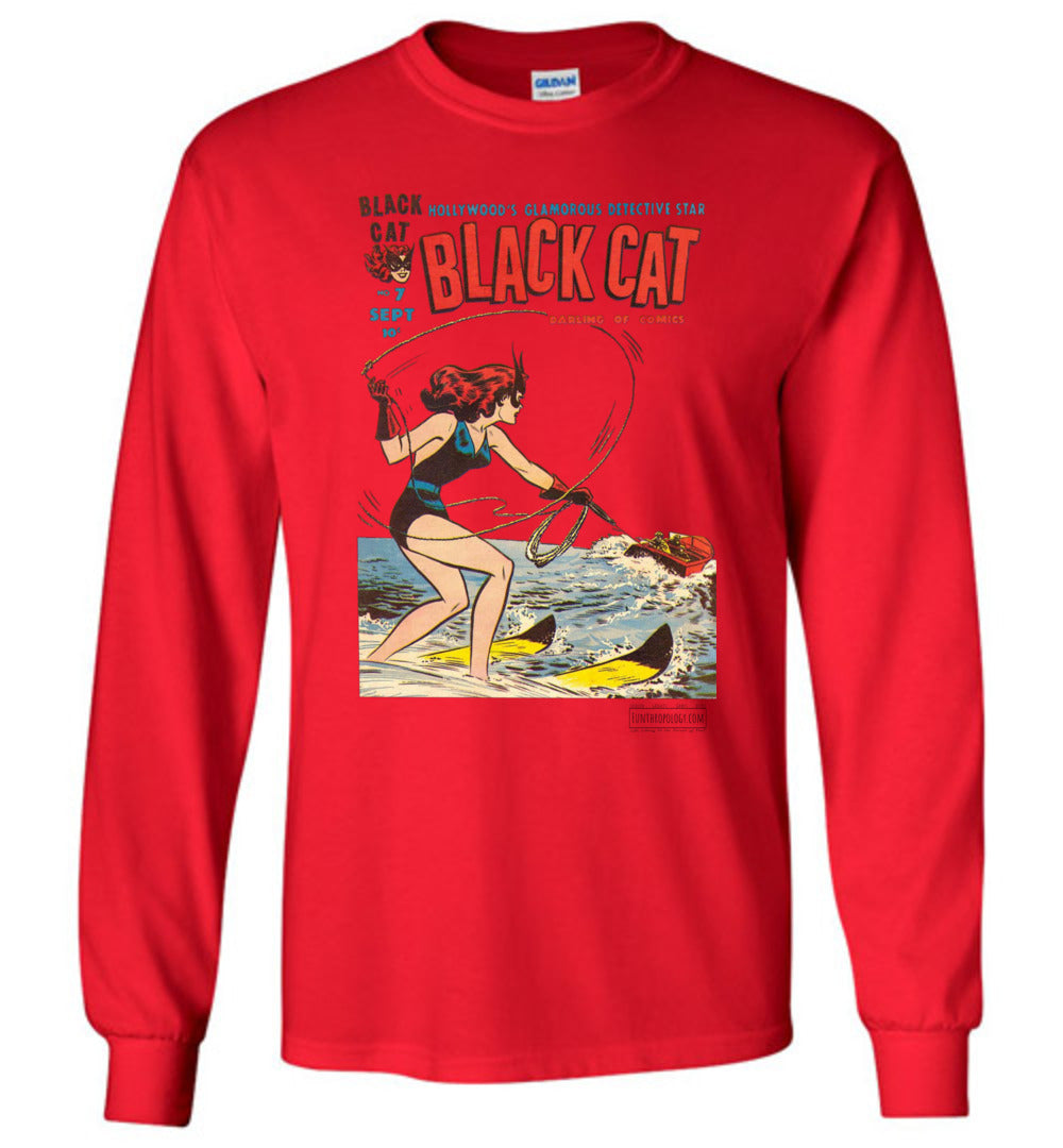 Black Cat No.7 Long Sleeve (Youth, Light Colors)