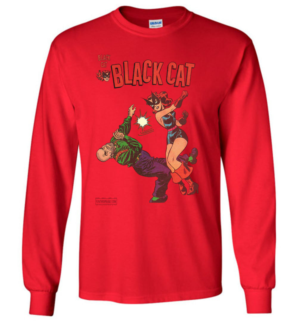 Black Cat No.4 Long Sleeve (Youth, Light Colors)