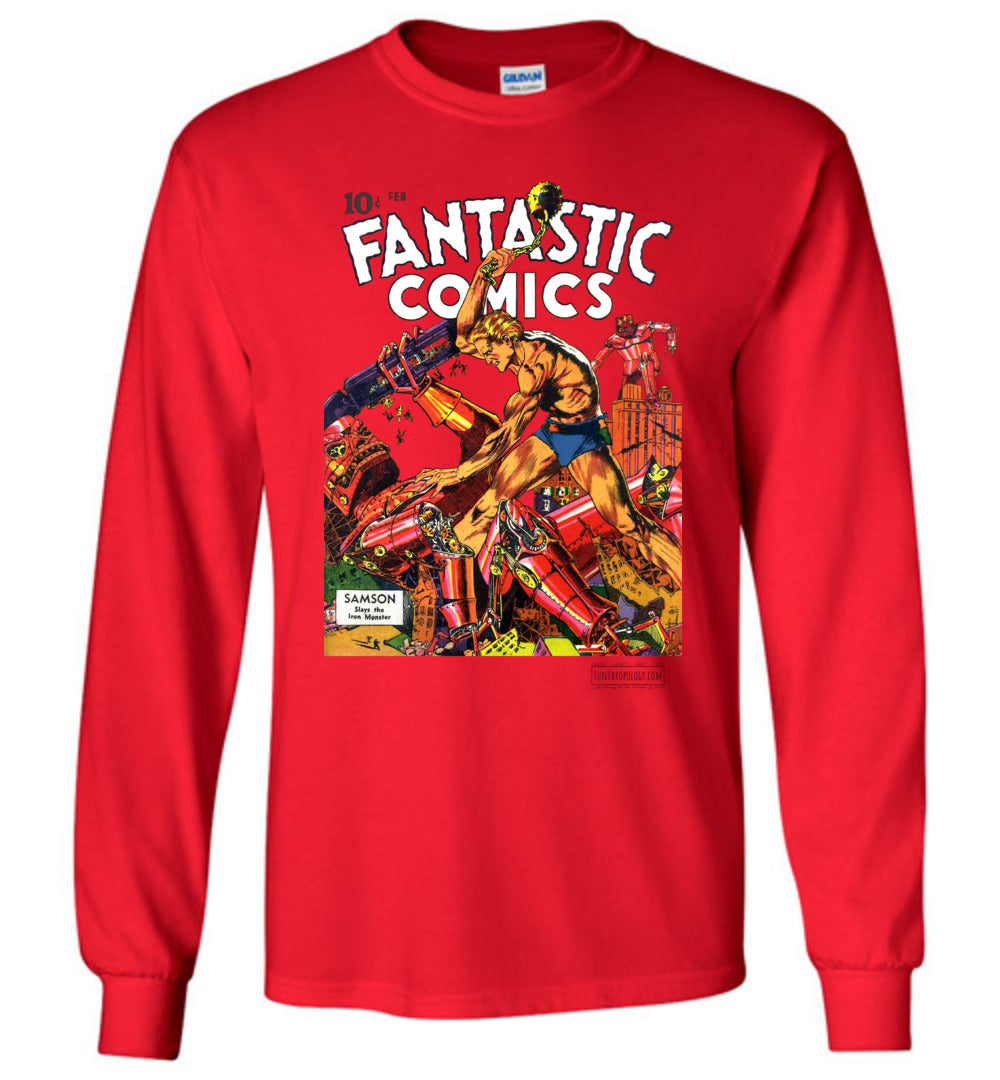 Fantastic Comics No.3 Long Sleeve (Unisex, Light Colors)
