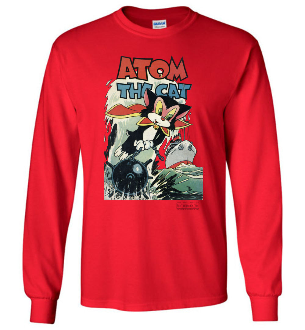 Atom The Cat No.10 Long Sleeve (Unisex, Light Colors)