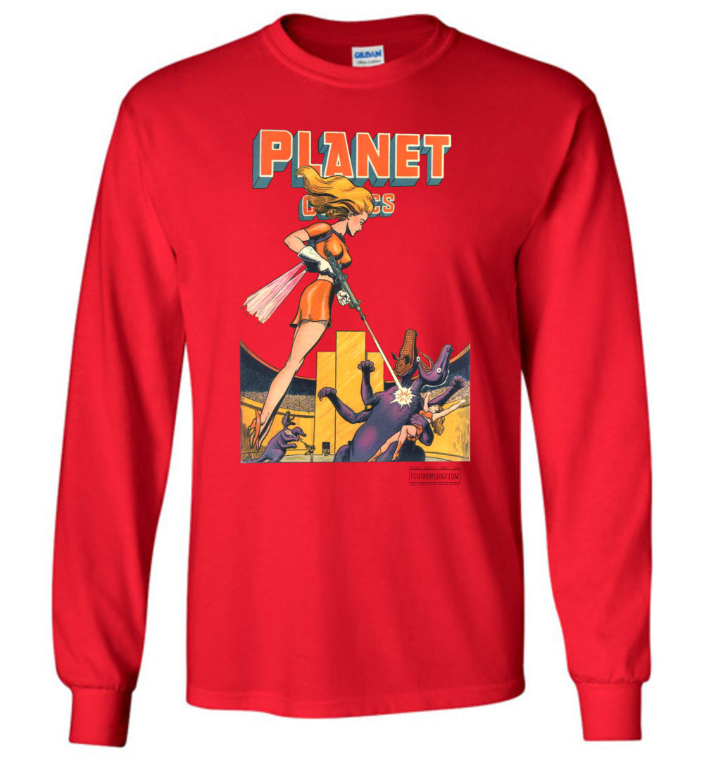 Planet Comics No.38 Long Sleeve (Unisex, Light Colors)