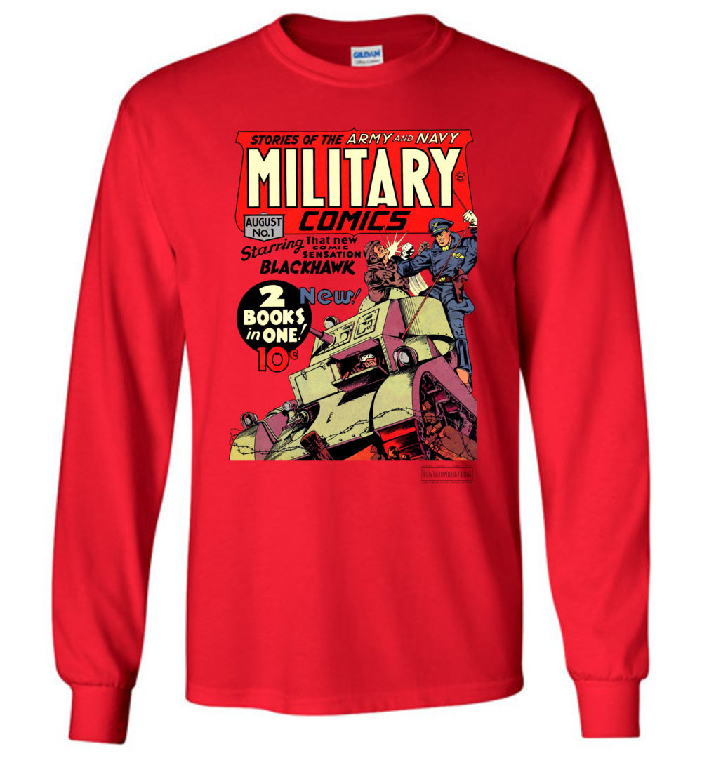 Military Comics No.1 Long Sleeve (Unisex, Light Colors)