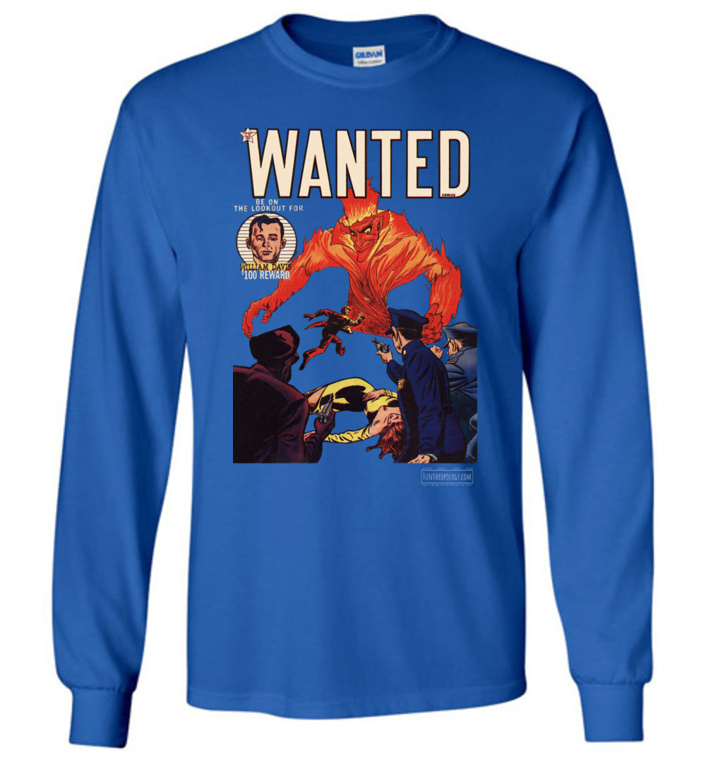 Wanted Comics No.32 Long Sleeve (Unisex, Dark Colors)