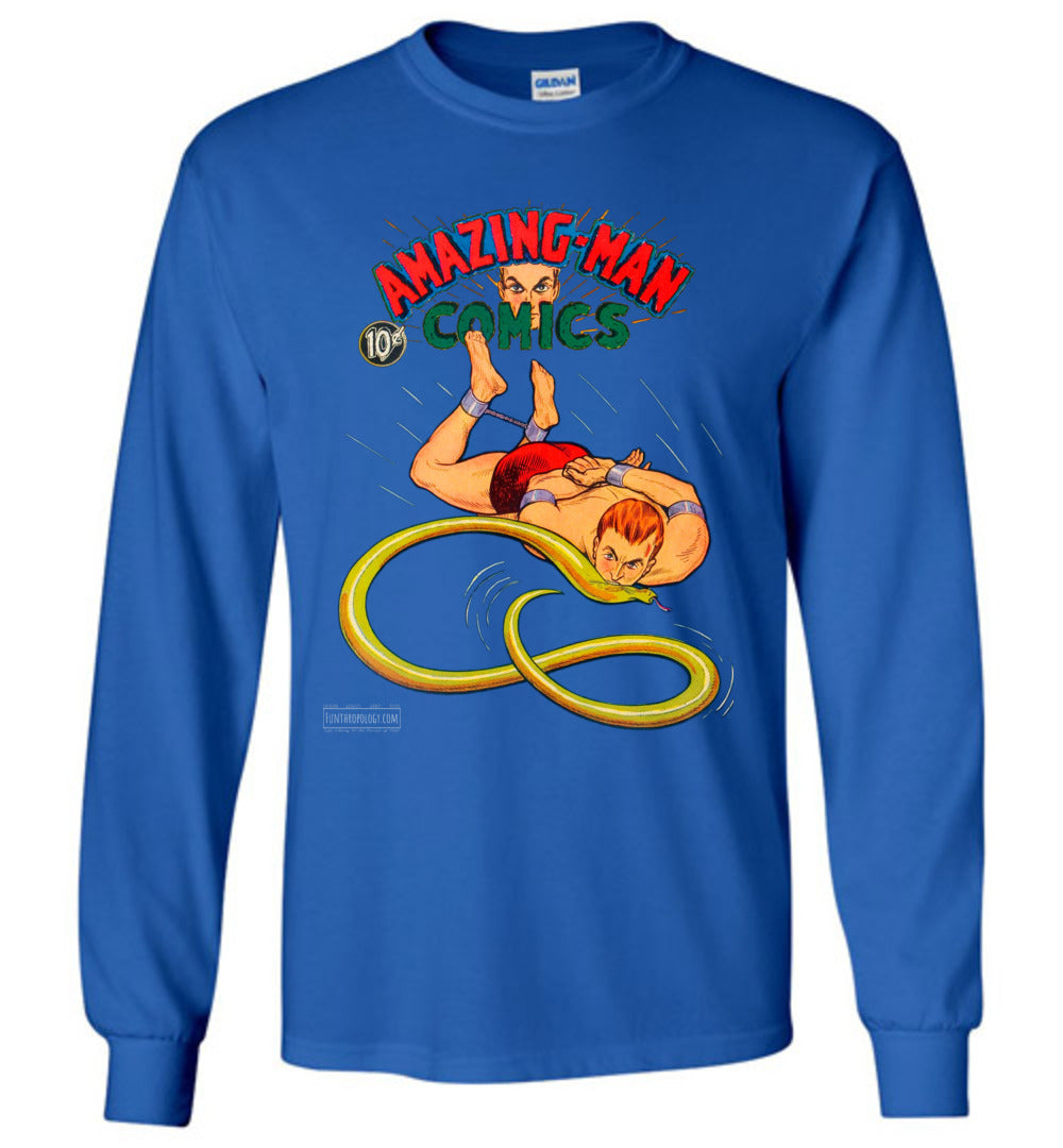 Amazing-Man Comics No.5 Long Sleeve (Unisex, Dark Colors)