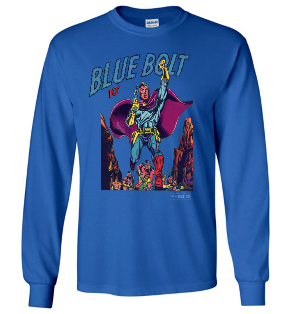 Blue Bolt No.3 Long Sleeve (Unisex, Dark Colors)