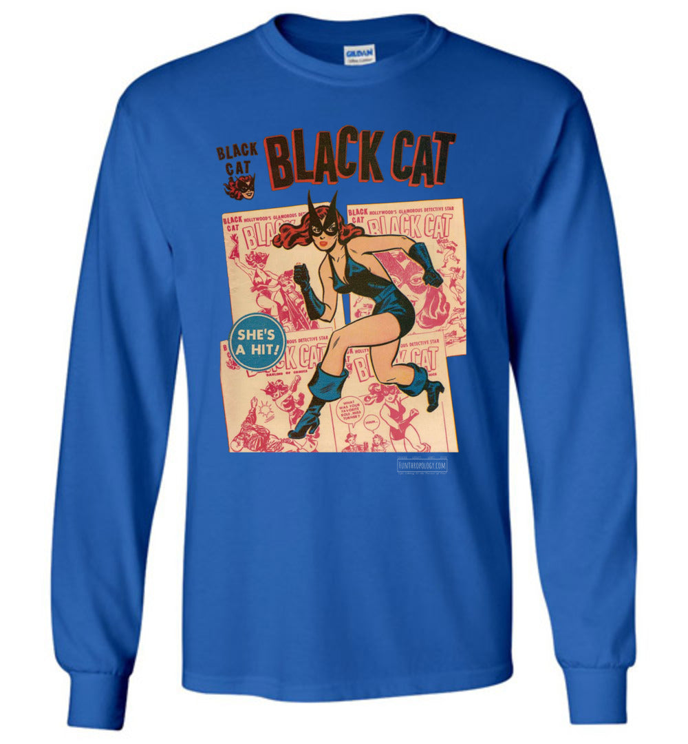 Black Cat No.6 Long Sleeve (Youth, Dark Colors)