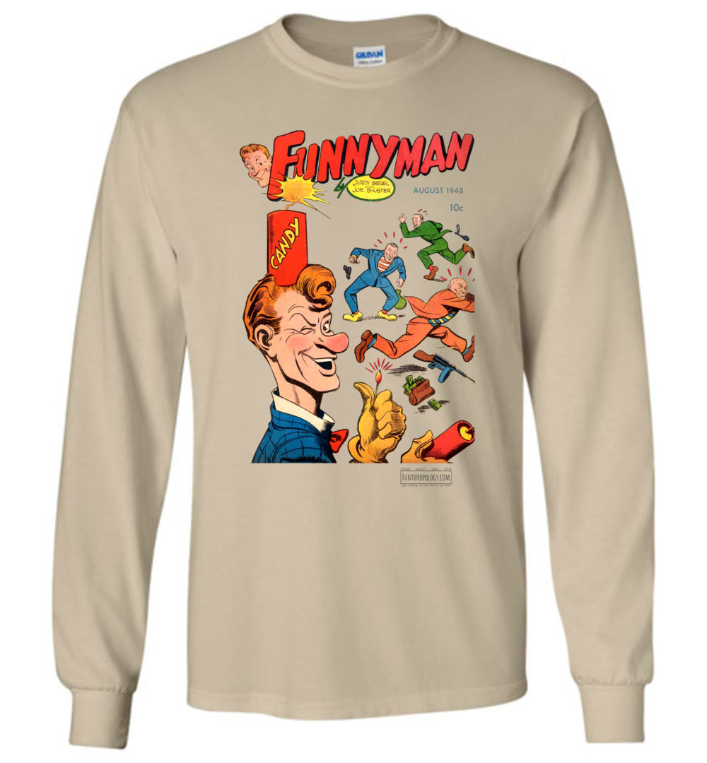 Funnyman No.6 Long Sleeve (Unisex, Light Colors)