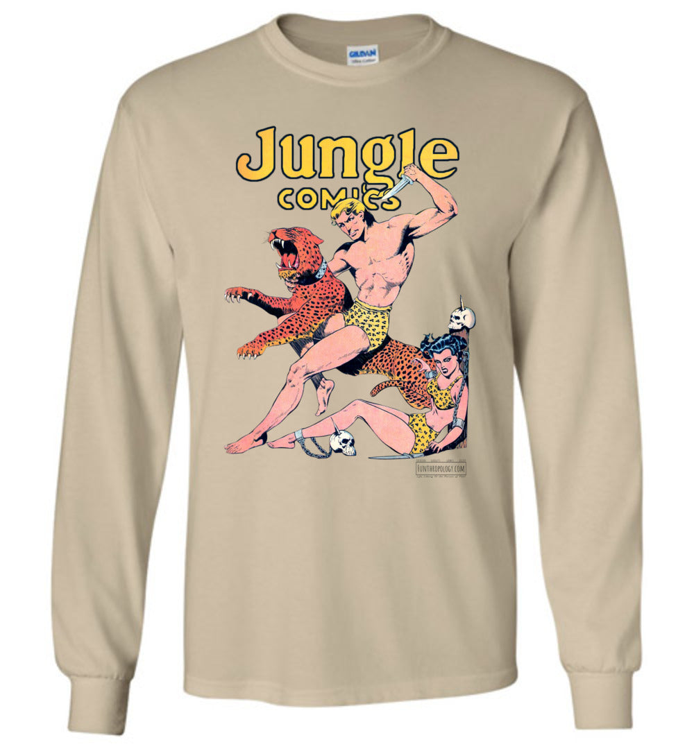 Jungle Comics No.42 Long Sleeve (Unisex, Light Colors)