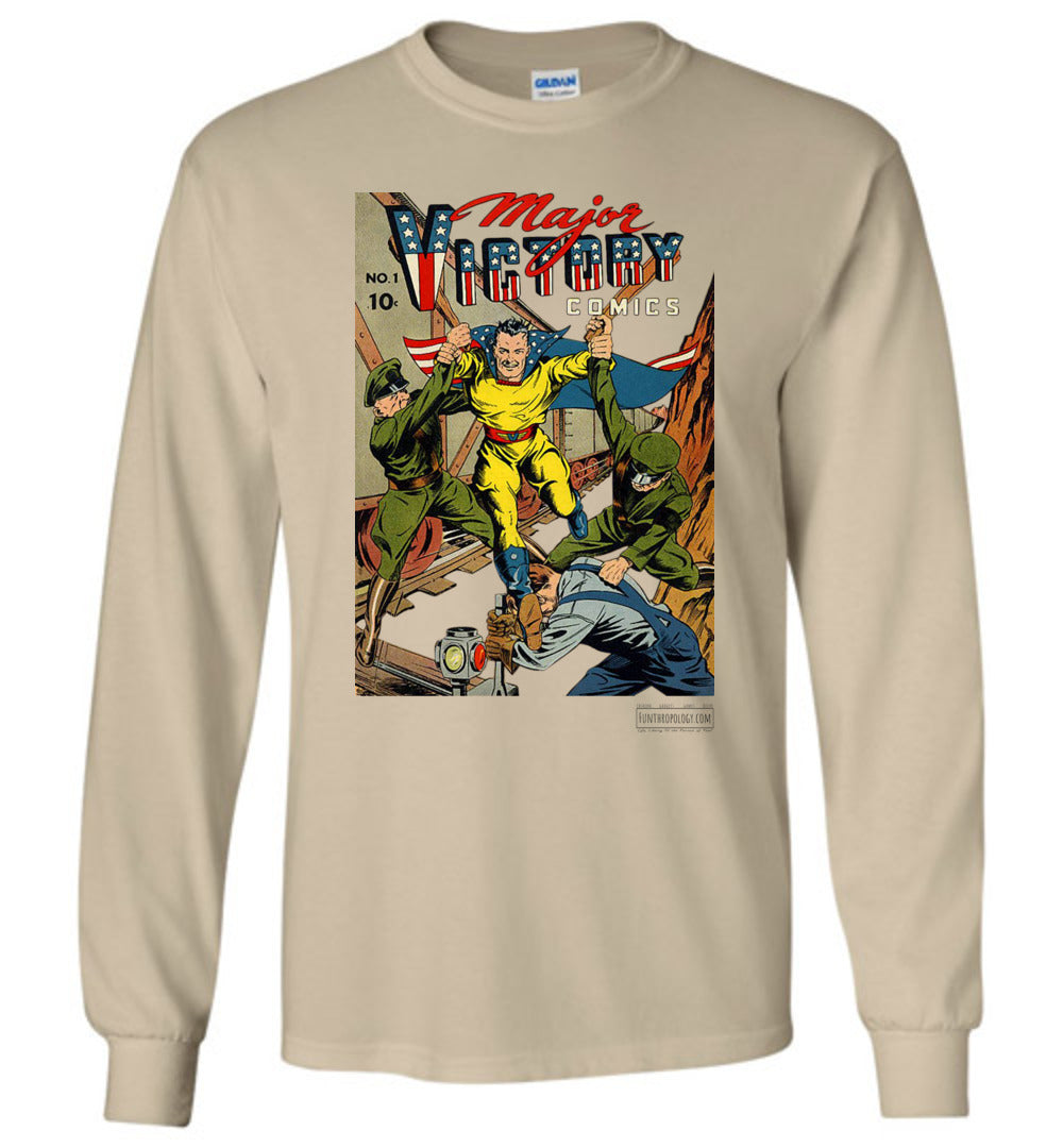 Major Victory Comics No.1 Long Sleeve (Unisex, Light Colors)