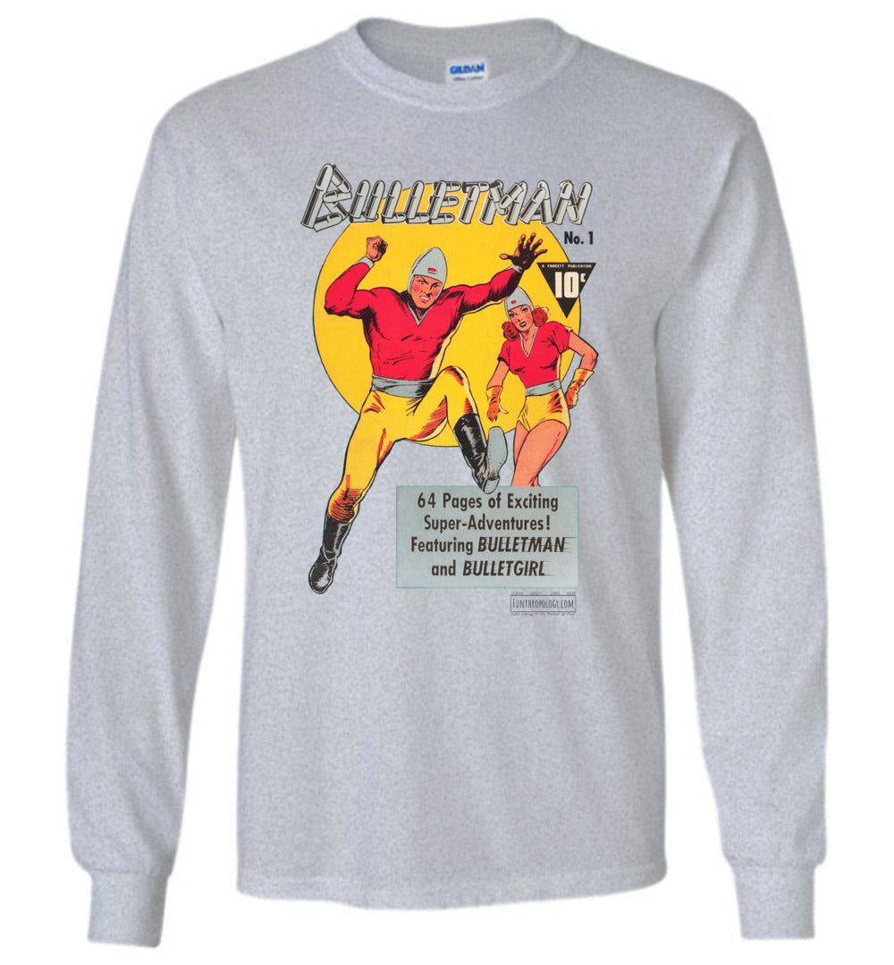 Bulletman No.1 Long Sleeve (Unisex, Light Colors)