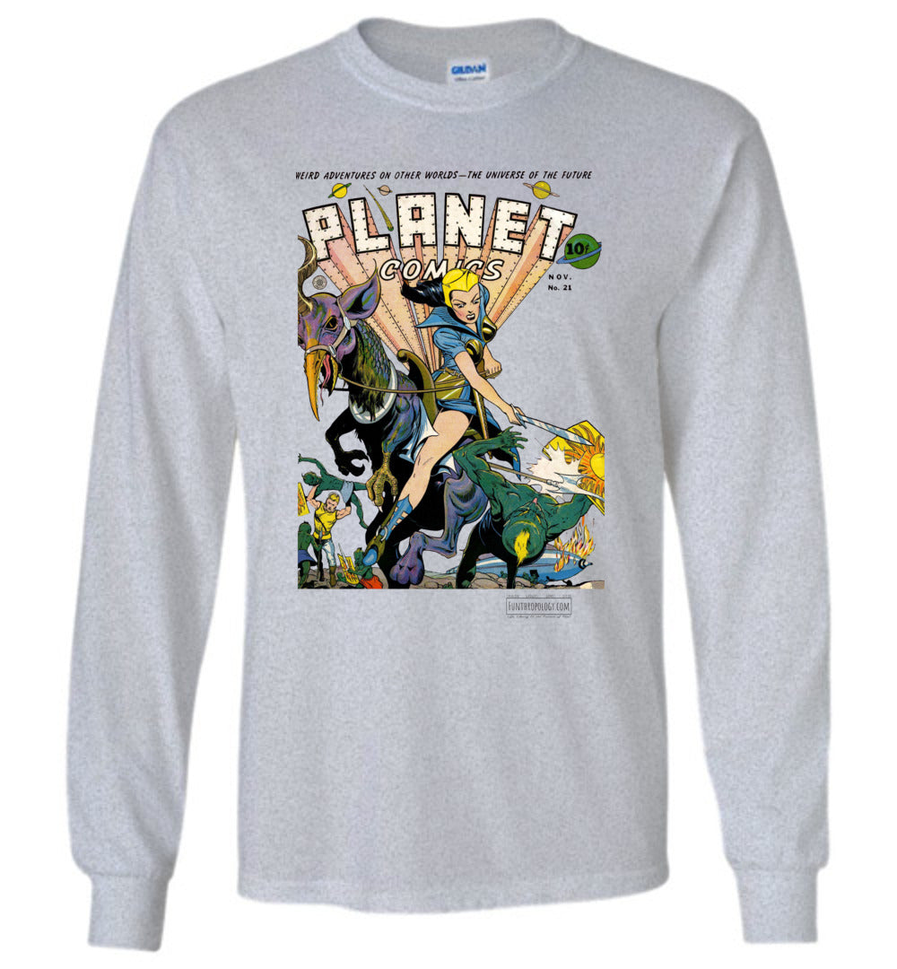 Planet Comics No.21 Long Sleeve (Unisex, Light Colors)