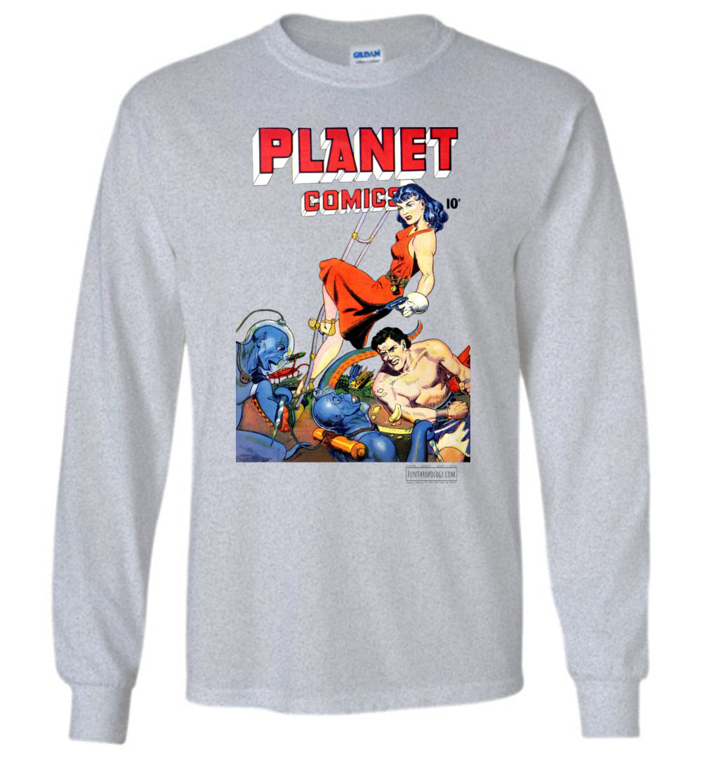 Planet Comics No.62 Long Sleeve (Unisex, Light Colors)