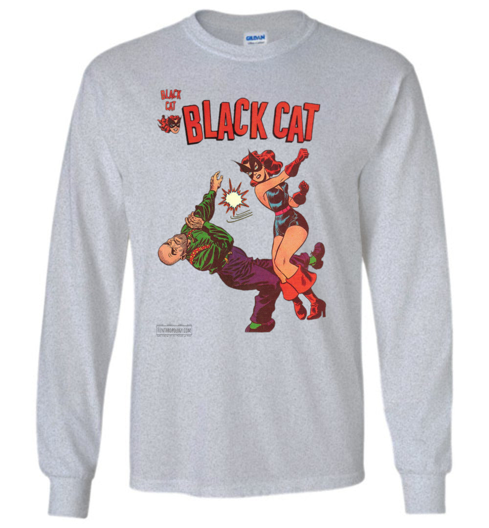 Black Cat No.4 Long Sleeve (Unisex, Light Colors)