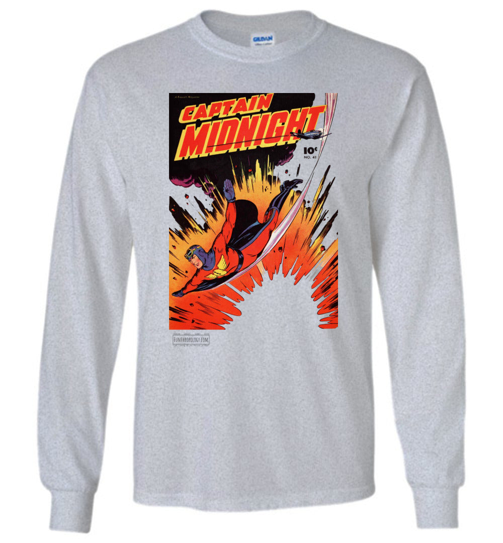 Captain Midnight No.41 Long Sleeve (Unisex, Light Colors)
