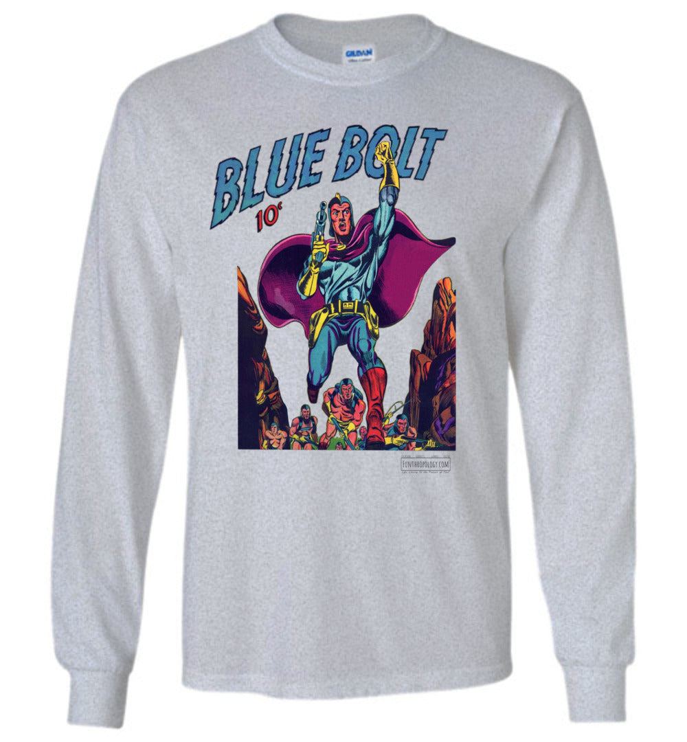 Blue Bolt No.3 Long Sleeve (Unisex, Light Colors)