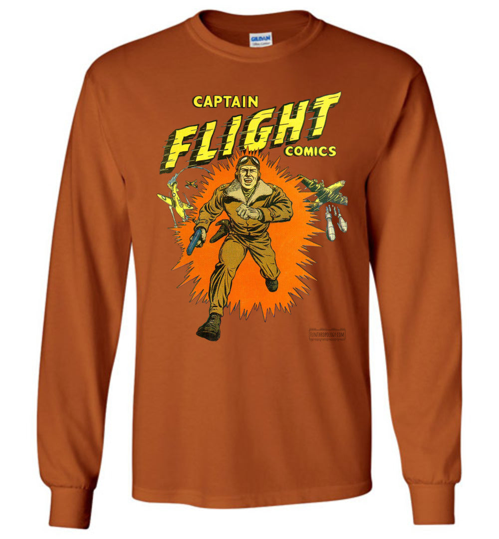 Captain Flight No.2 Long Sleeve (Unisex, Light Colors)