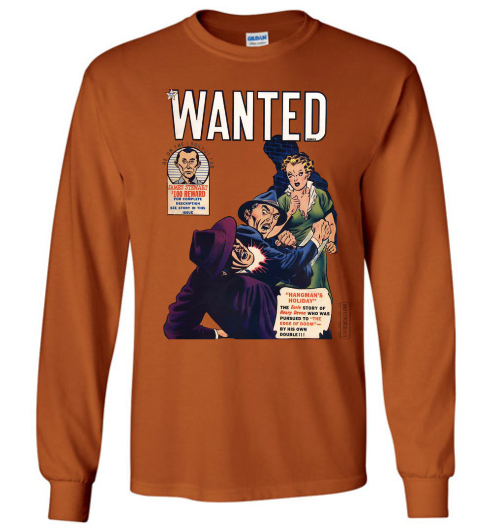 Wanted Comics No.29 Long Sleeve (Unisex, Light Colors)