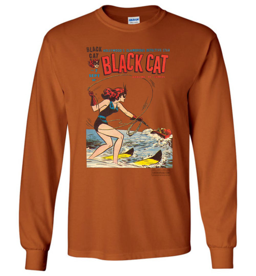 Black Cat No.7 Long Sleeve (Unisex, Light Colors)