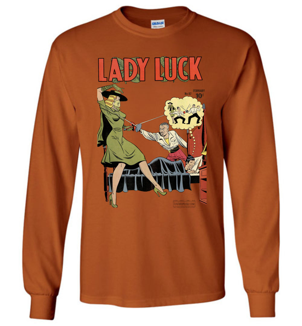 Lady Luck No.87 Long Sleeve (Unisex, Light Colors)