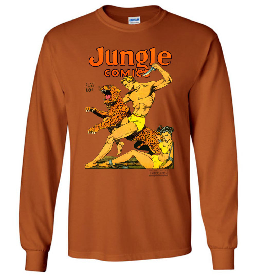 Jungle Comics No.18 Long Sleeve (Unisex, Light Colors)